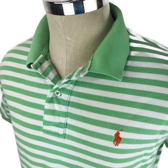 076f379e6a Polo by Ralph Lauren Shirts | Polo Ralph Lauren Green Striped Polo ...